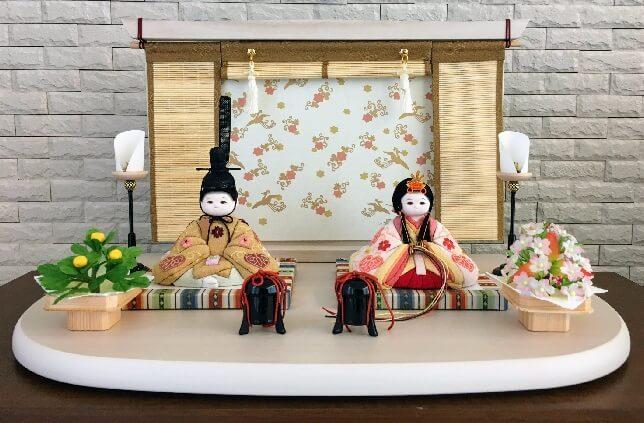 ふらここ 雛人形「まいまい」親王飾