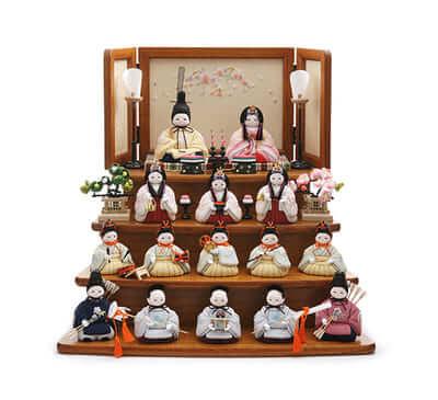 ふらここの雛人形 十五人飾り 価格