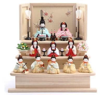 ふらここの雛人形 十人飾り 価格
