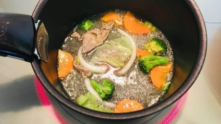 ミタスの離乳食 野菜だしで煮込み野菜